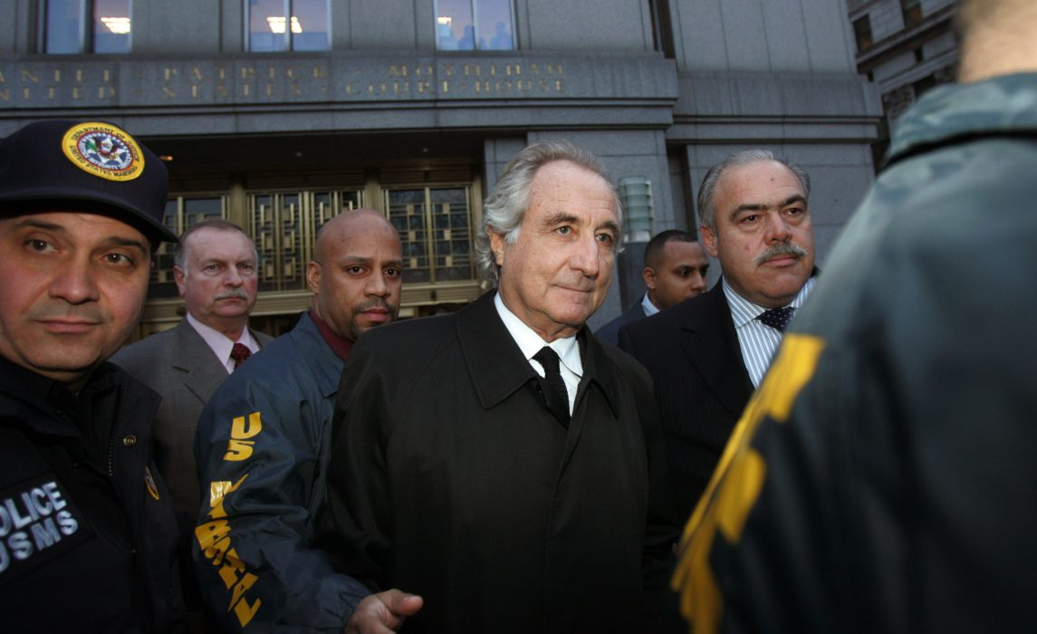 Bernard Madoff walks out from Federal Court after a bail hearing in Manhattan January 5, 2009 in New York City.